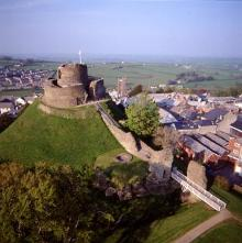 Launceston Castle. Click photo for local weather forecast.