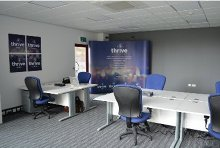 THRIVE OFFICE SPACE - MY DESK From £150 per month Your own desk guaranteed. An ideal solution for entrepreneurs, established contractors and remote workers.